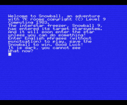 Snowball (1983, MSX, Level 9 Computing)