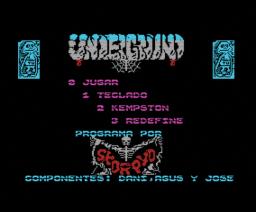 Underground (1988, MSX, System 4)