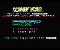 Donkey Kong (1986, MSX, Nintendo)