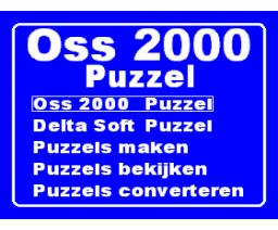 Oss 2000 Puzzel (2000, MSX2, Delta Soft)
