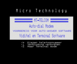 MT-Telcom (1985, MSX, Micro Technology)
