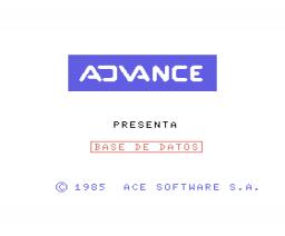 Base de Datos (1985, MSX, Ace Software S.A.)