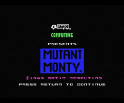 Mutant Monty (1986, MSX, Artic Computing)