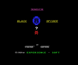 The Maze of the Black Spider (1989, MSX, Experience Soft)