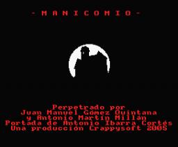 Manicomio (2005, MSX, Crappysoft)