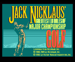 Jack Nicklaus Championship Golf (1990, MSX2, Victor)