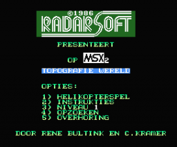Topografie Wereld (1986, MSX2, Radarsoft)