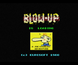 Blow Up! (1988, MSX, Eurosoft)