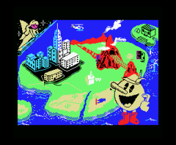 Pac Land (1988, MSX, Grandslam Entertainments)