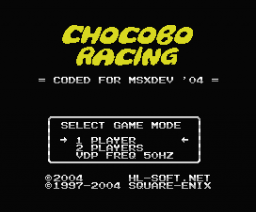 Chocobo Racing  (2004, MSX, HL-Soft)