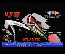 Murder on the Atlantic (1986, MSX, Infogrames)