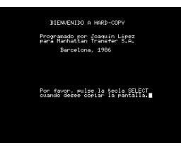 Hard-Copy (1986, MSX, Joaquín López Ortega)