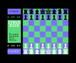 Cyrus II Chess (1986, MSX, Intelligent Software)