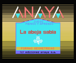La Abeja Sabia - Formas Geometricas (1986, MSX, Anaya Multimedia)
