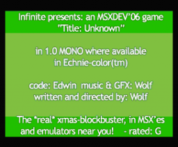 Title : Unknown (2006, MSX, Infinite)