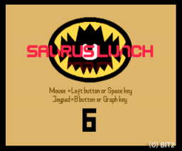 Saurus Lunch 6 (1992, MSX2, Bit²)