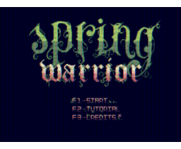 Spring Warrior (2016, MSX2, MSX2+, Turbo-R, Oniric Factor)