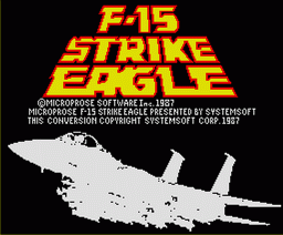 F-15 Strike Eagle (1988, MSX2, System Soft, Microprose)