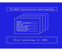 MT-Base (1985, MSX, Micro Technology)