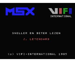 Lire Vite et Bien (1985, MSX, Vifi International)