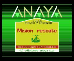Misión Rescate 2 (1986, MSX, Anaya Multimedia)