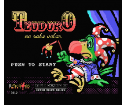 Teodoro can't fly (2012, MSX, RetroWorks, Dimension Z)