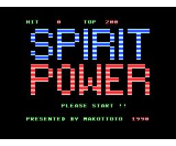 Spirit Power (1990, MSX, Makottoto)