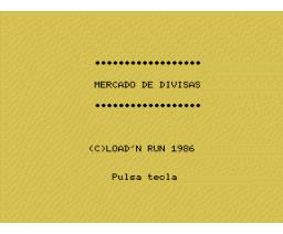 Mercado de Divisas (1986, MSX, Load 'n' Run)