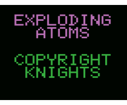 Exploding Atoms (MSX, Knights Computers)