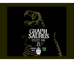 Graph Saurus Utility v2.1 interlace mode plus (1993, MSX2, Bit²)