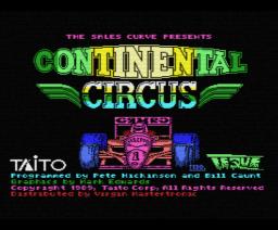Continental Circus (1989, MSX, TAITO)