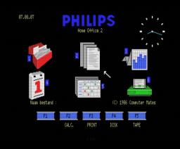 Home Office 2 + MSX-DOS (1986, MSX2, Philips)