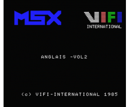 Anglais - Volume 2 Système Verbal (1985, MSX, Vifi International)