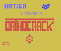 Orthocrack (1984, MSX, Sermap Paris)