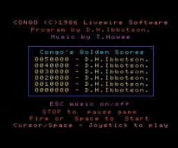 Congo (1986, MSX, Livewire)