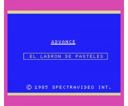 El Ladrón de Pasteles (1985, MSX, Spectravideo (SVI))