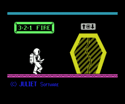 Johny Comomolo in 3-2-1 Fire (1986, MSX, Juliet Software)