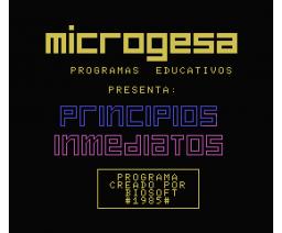 Biología - Principios inmediatos (1985, MSX, Biosoft)