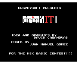 Drink It (2006, MSX, Crappysoft)