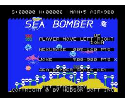 Sea Bomber (1983, MSX, Hudson Soft)