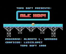Ale Hop! (1988, MSX, Topo Soft)
