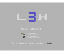 L.3.W (1990, MSX, Screen Software)