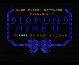 Diamond Mine II (1986, MSX, Blue Ribbon Software)