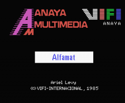 Alfamat (1985, MSX, Anaya Multimedia, Vifi International)