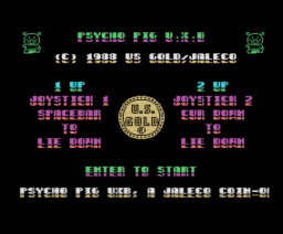 Psycho Pig UXB (1988, MSX, Jaleco, US Gold)