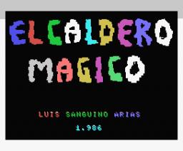 El Caldero Mágico (1986, MSX, Grupo de Trabajo Software (G.T.S.))