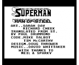 Superman (1988, MSX, Tynesoft)