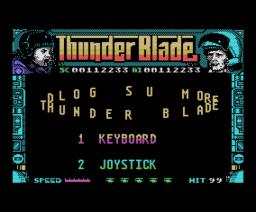 Thunder Blade (1988, MSX, Sega)