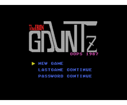 The Iron Gauntz (1987, MSX, Oops)