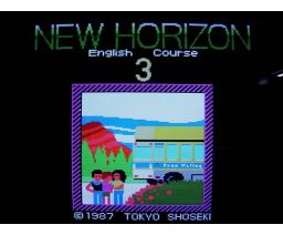 New Horizon English Course 3 (1987, MSX, Tokyo Shoseki)